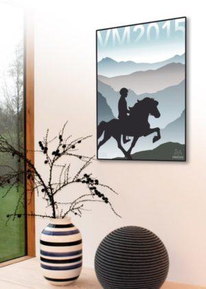 køb plakat med heste