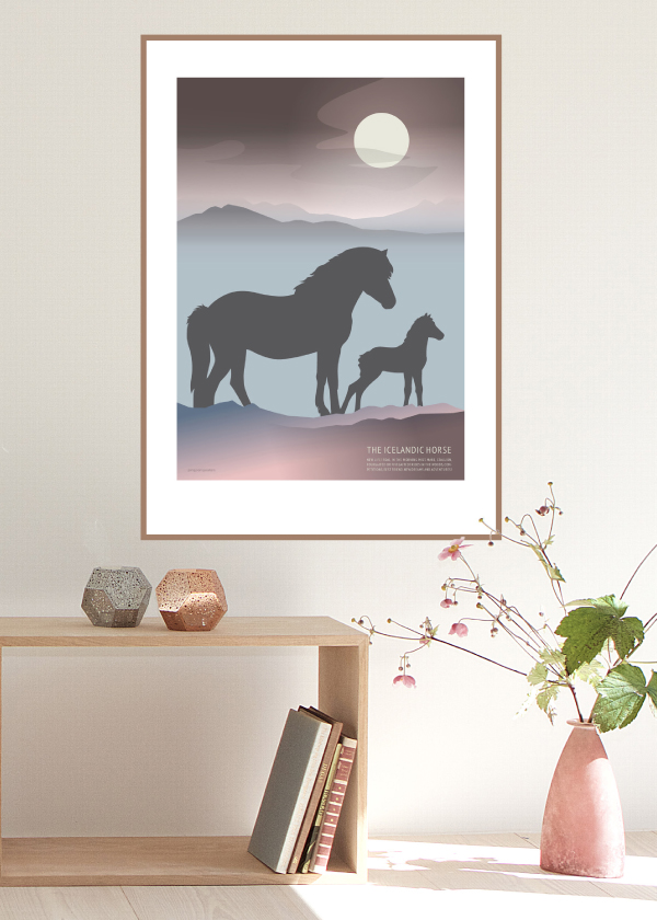 Icelandic Horse Foal poster