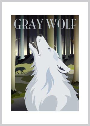 ulve lykønskningskort