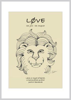 stjernetegnskort løve