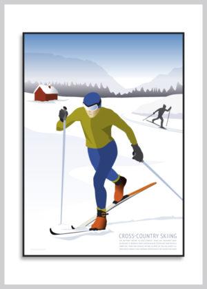 Cross Country Skiing plakat