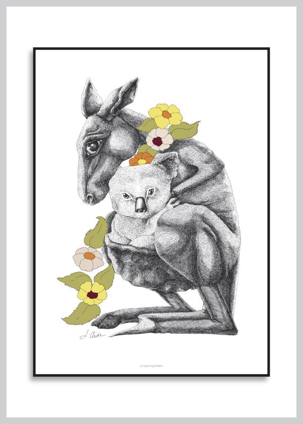 kænguru plakat