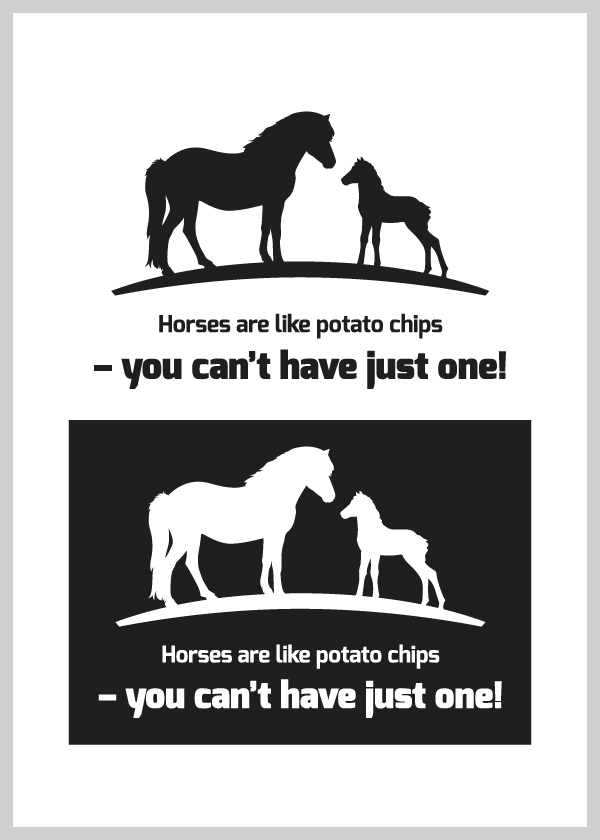 Stickers horses are like potato chips - you can't have just one