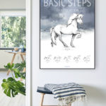 Basic Steps of education of the icelandic horse poster on the wall