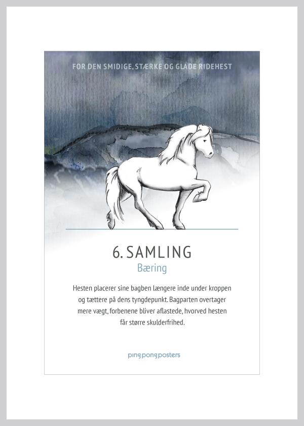 Basic Step kort med islænderhesten samling i blå nuancer