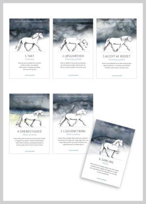 Basic Step kort med islænderhesten i blå nuancer