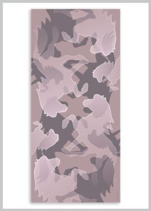 Silketørklæde i rosa farver